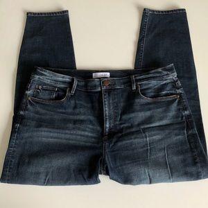 LOFT Modern High Waist Skinny Ankle Jeans, 32